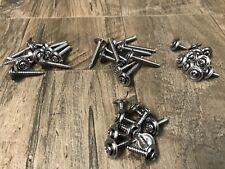 40pcs kick panel interior chrome trim screws finish washers 4 sizes fits Ford