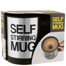 Self Stirring Mug / Stainless Steel Battery Operated Coffee Cup - Great Gift