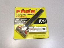 Vintage NOS Schick SE Injector Safety Razor Type L 1965 - 1980