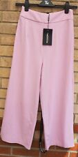 PRETTYLITTLETHING TAZMIN LILAC CULOTTE PINK FORMAL PARTY TROUSERS PANTS 8 S