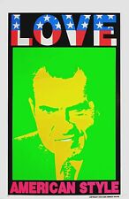 Love American Style Richard Nixon Original Poster by Frank Kozik A/P Signed