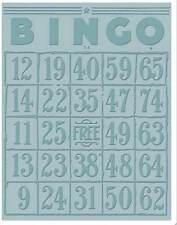 Sizzix carpeta de grabación en relieve-Bingo NUEVO FREE P & P
