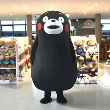 Kumamon Black Bear Kumamoto Mascot Costume Cartoon Cosplay Outfit Adult Dress