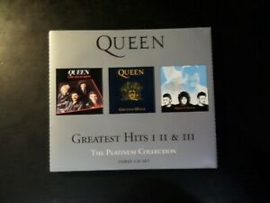 CD TRIPLE ALBUM - QUEEN - THE PLATINUM COLLECTION - GREATEST HITS 1 - 2 - 3