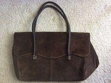 Wie neu: Echt Wildleder Damenhandtasche, dunkelbraun, NP 200 €