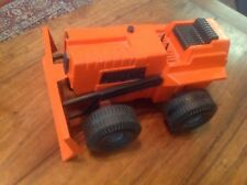 Toy Tractor Vintage Bulldozer Orange 1970's Dynamo Ideal Mighty Mo
