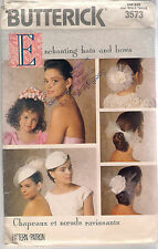 Butterick Sewing Pattern 3573, Hats and Bows, One Size, Uncut