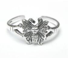 Neu 925 Silber ZEHENRING mit SCHMETTERLING Größenverstellbar SCHMETTERLINGE Ring