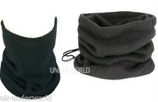 Mens Ladies Boys Black Snood Fleece Neck Warmer 3 In 1 Adults Winter Warm Hat