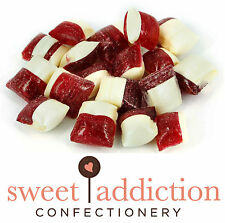 6kg Strawberry Creams Rock Candy - Boiled Sweets Bulk Lolly Buffet or Bomboniere