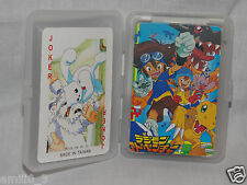 NEW IN  CLEAR PLASTIC BOX DIGIMON   AGUMON PLAYING CARDS DECK