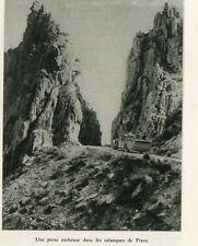 CORSICA AUTO DANS LES CALANQUES DE PIANA IMAGE 1930 OLD PRINT