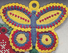 Vintage Crochet PATTERN Pot Holder Butterfly Hot Pad