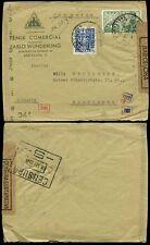 España 1944 govt.censor + Alemania... Comercial Ave Fénix Fenix Envelope