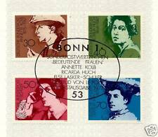 BRD 1975: Schriftstellerinnen Nr. 826-829 mit dem Bonner Sonderstempel! 1A! 153