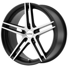 "KMC KM703 Monophonic 18x8.5 5x112 +35mm Black/Brushed Wheel Rim 18"" Inch"