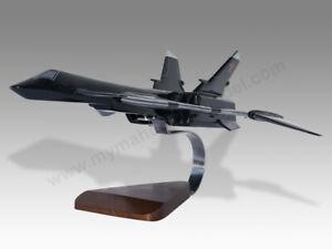 Mikoyan MiG-31 Firefox Solid Kiln Dry Wood Replica Airplane Desktop Model