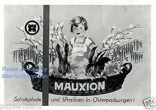 Mauxion,Berger Schokolade,Saalfeld,Rotstern-Schlagersüßtafel,orig.Anzeige 1925