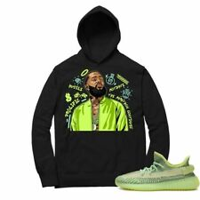 NEW Shirt to Match Yeezy Boost Yeezreel 350 Nipsey Forever Fly V2 Black Hoodie