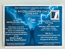 PERCEPTION MIDSUMMERS DREAM MILTON KEYNES 1991 RAVE FLYERS FLYER