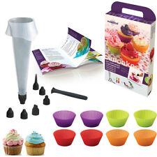 Mastrad of Paris Cupcake Making Kit Gift Set Piping Bag Nozzles Recipe F44060