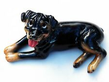 ROSCOE KITTY'S KENNEL ROTTWEILER FIGURINE Dog Made in China