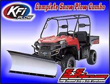 """KFI UTV 60"""" Tapered Snow Plow Kit Combo Polaris RZR 800 570 RZR-4 2008-2017"""