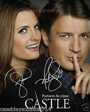 "Castle the ABC TV Show 8x10"" reprint Signed Photo #2 RP Kate Beckett & Richard"