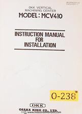 Osaka Kiko Mcv410 Okk Vmc Instructions Installation And Wiring Manual