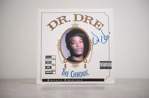 Dr. Dre Signed The Chronic Vinyl Beckett Authentication Services BAS PROOF COA