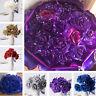 7Pcs Foam Glitter Artificial Rose Flowers Bouquet Bride Wedding Party Decor