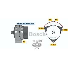 ORIGINAL BOSCH Generator 100A DAF 85 85 CF Bj.92- NFZ - 0 986 046 570