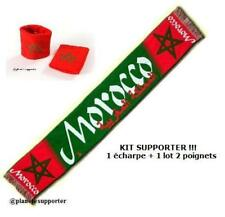ECHARPE + BRACELET MAROC drapeau maillot scarf schal sjaal sciarpa bufanda