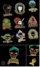 SUICIDE SQUAD 10p LAPEL PIN Collector SETS Harley Quinn Deadshot + SDCC JOKER