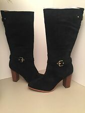 Coach Beverly Black Suede Heel Boots Size 9.5M *NEW