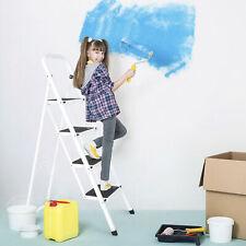 4 Steps Ladder Folding Anti Slip Tread Industrial Home Use Garden 300lbs Load