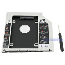 For Apple Macbook Pro/Unibody Caddy Optibay 2nd HDD/SSD SATA Replace DVD-D 9.5mm