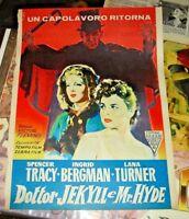 pagina di giornale pubblicitaria film DOTTOR JEKILL E MR. HYDE - 1947 originale
