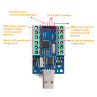 USB 10-Channel 12Bit AD Data Collection Module STM32 UART ADC Module