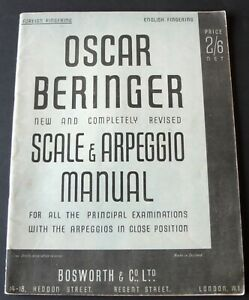 OSCAR BERINGER NEW REVISED SCALE & ARPEGGIO MANUAL MUSIC BOOK FOREIGN FINGERING