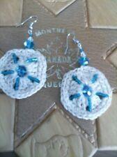 summer beach party Crochet original handmade earrings