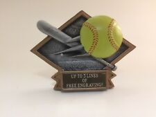 Triangle Softball Resin Trophy! Free Engraving! Ships In 1 Business Day!