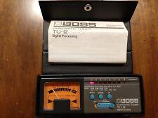 Boss TU-12 Guitar Chromatic Tuner Digital Processing In Case - Guitar tuner l