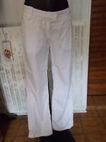 Pantalon coton blanc AIGLE LIZARRA 44FR Poche zip bas avec lien 17ETJ8