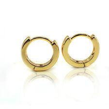 10 mm, 18k gold Filled Unisex Huggies Hoop Solid Earrings