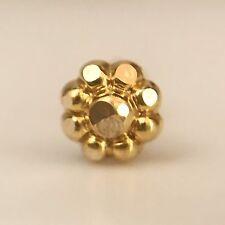 14Kt Real Gold Stud Yellow Nose Ear Pin Piercing Wedding Ring Bone 20 Gauge