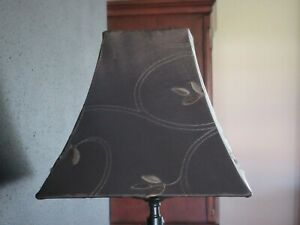 Brown Fabric Lamp Shades Square Set of 2 Home Decor Lighting Lamp