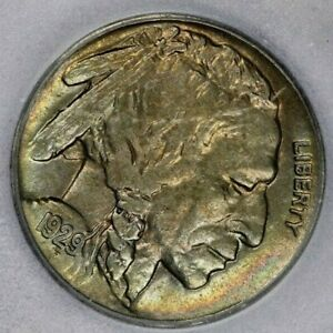 1929-P 1929 Buffalo Nickel ICG AU55 Beautiful subtle color!
