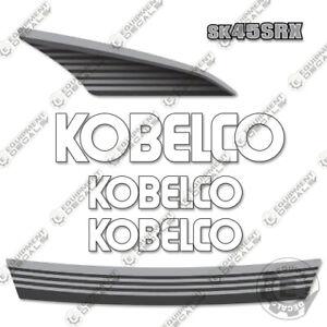 Kobelco SK45SRX Decal Kit Excavator (WHITE) - 7 YEAR VINYL!