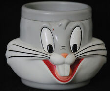 Looney Tunes Warner Brothers Bugs Bunny Vinyl Plastic Face 3-D Cup Mug GC